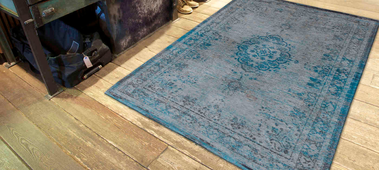 Louis De Poortere Fading World Grey Turquoise Rug