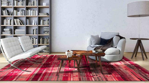 Louis De Poortere Rug - Mad Men - Empire Red