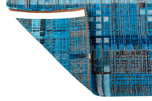 CORNER OF Louis De Poortere Rug - Mad Men - Blue Avenue