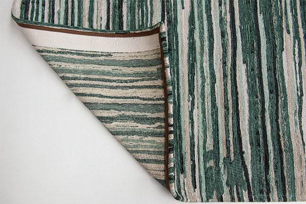 Louis de Poortere Atlantic Ocean Green Stripes Rug