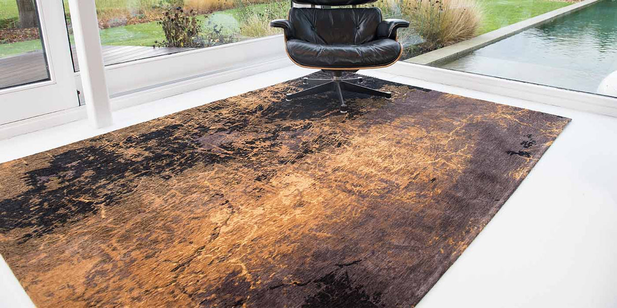 Louis de Poortere Mad Men Cracks Deep Mine Rug