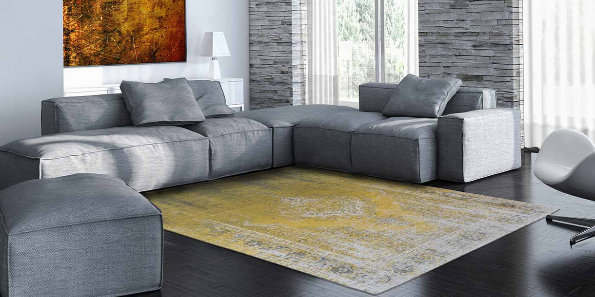 Louis De Poortere Fading World Rug - Yuzu Cream Lifestyle