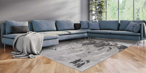 Louis de Poortere Atlantic Ocean Grey Waves Rug