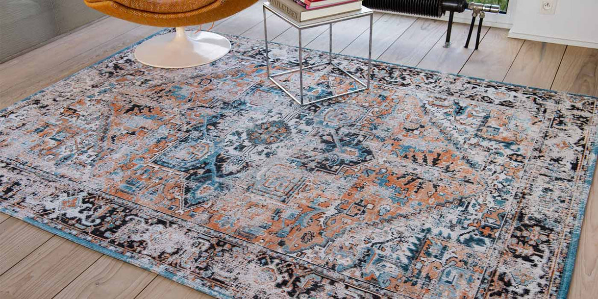 Louis de Poortere Antiquarian Seray Orange Rug in Room