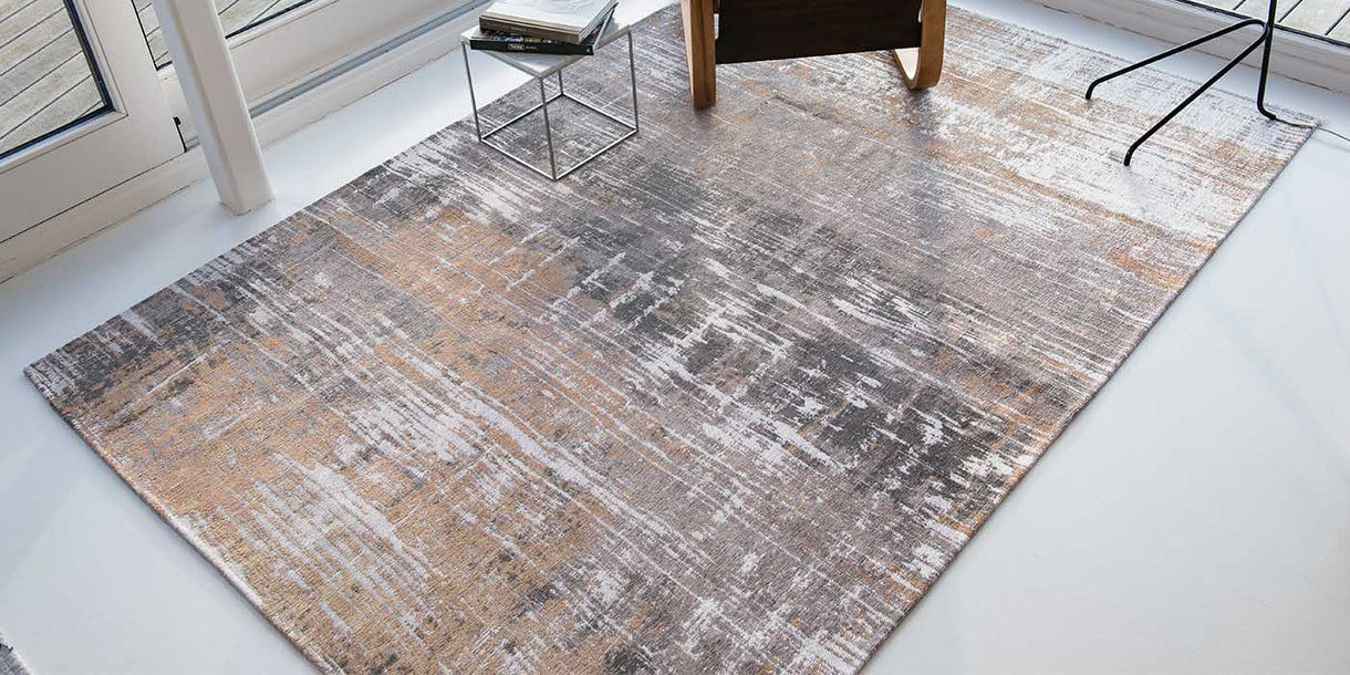 Louis de Poortere Atlantic Streaks Parsons Powder Rug in Room
