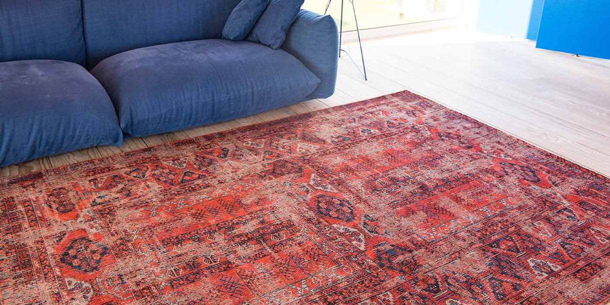 Louis de Poortere Antiquarian 7-8-2 Red Rug