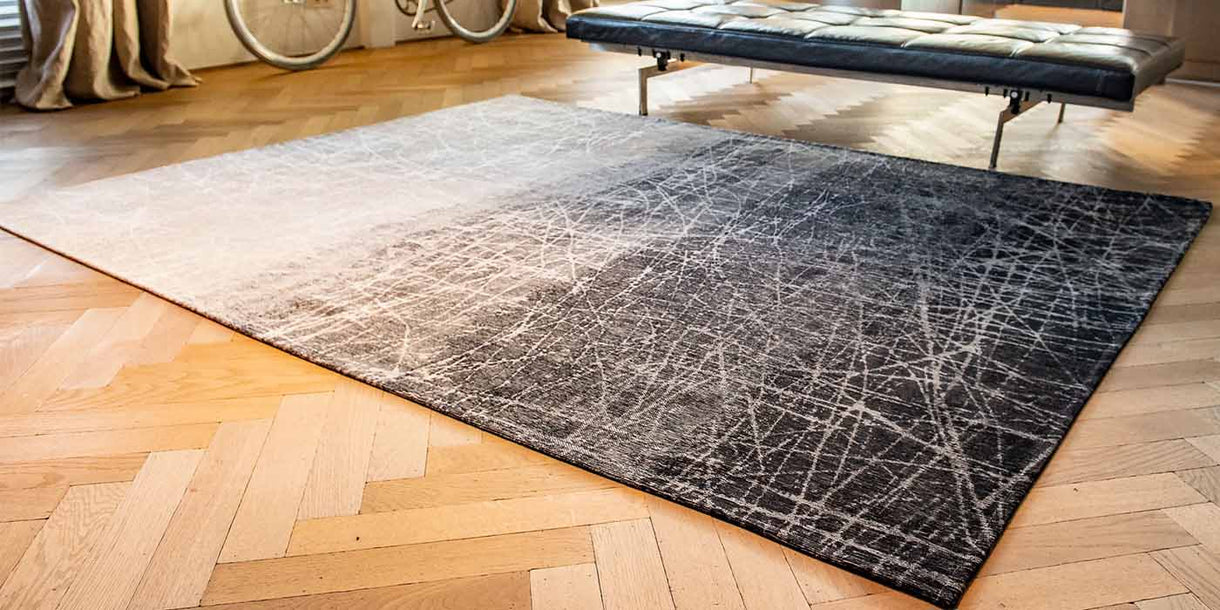 Louis de Poortere Fahrenheit Wind Chill Grey Rug in Room