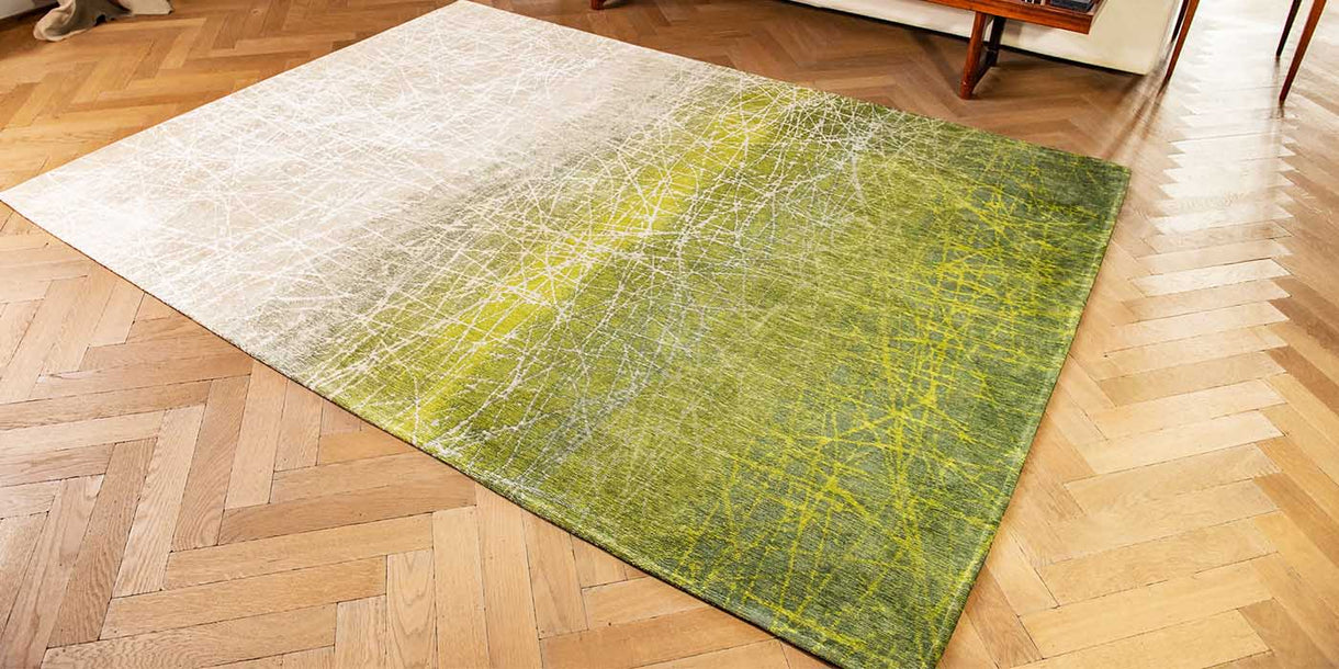 Louis de Poortere Fahrenheit Central Park Green Rug in Room
