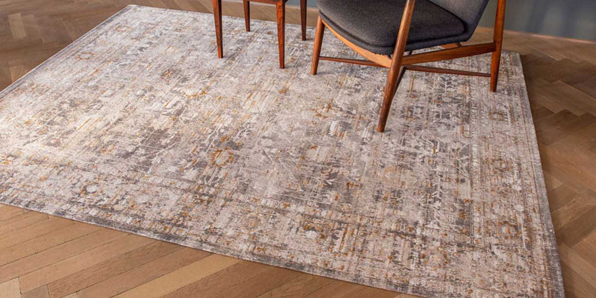 Louis de Poortere Antiquarian Suleiman Grey Rug in Room