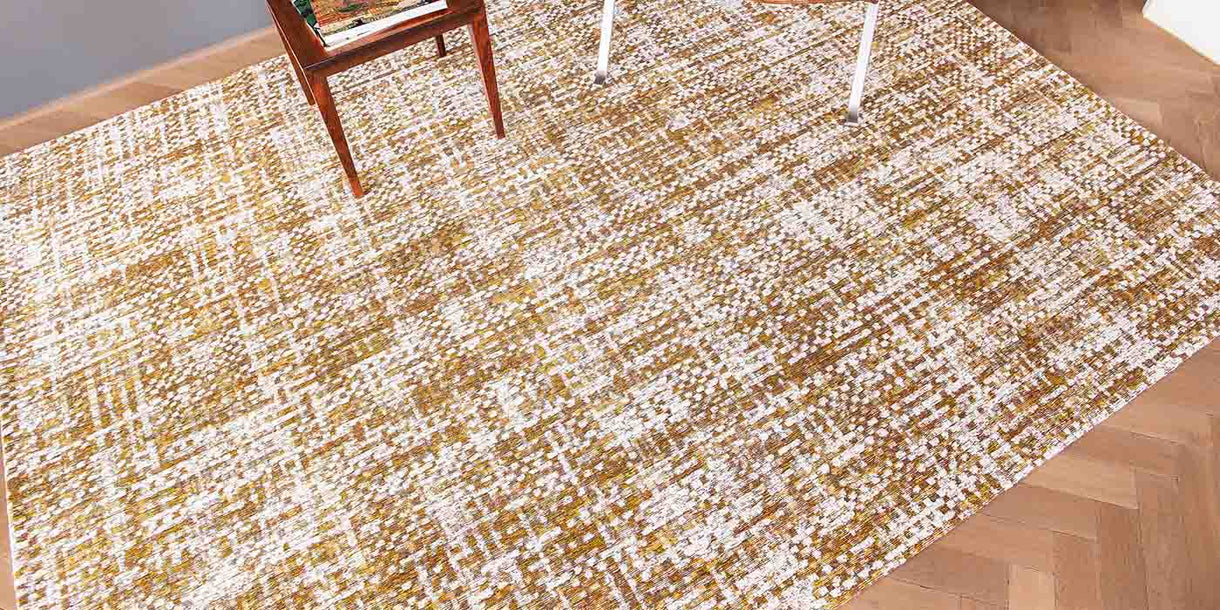 Louis de Poortere Citrine Load Rug in Room