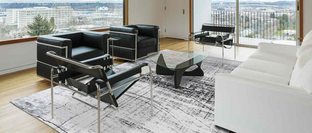 Louis de Poortere Mad Men Black and White Rug