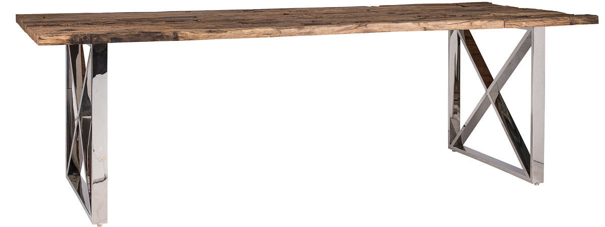 Luxe Kensington Reclaimed Wood Dining Table no Glass
