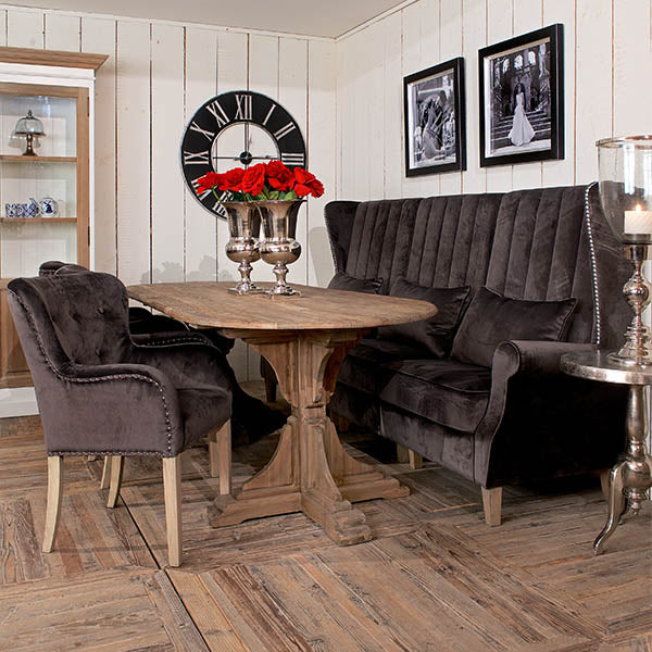 Portishead Reclaimed Wood Dining Table and Chairs