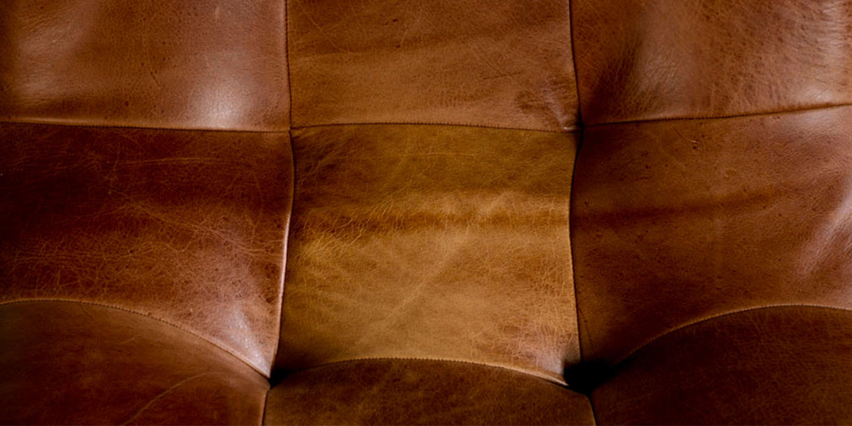 Dolomite Leather Dining Chairs close up