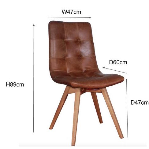 Measurement for Allegro Dining Chair