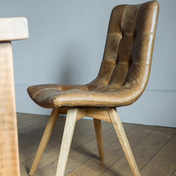 Allegro Cerato Leather Dining Chair