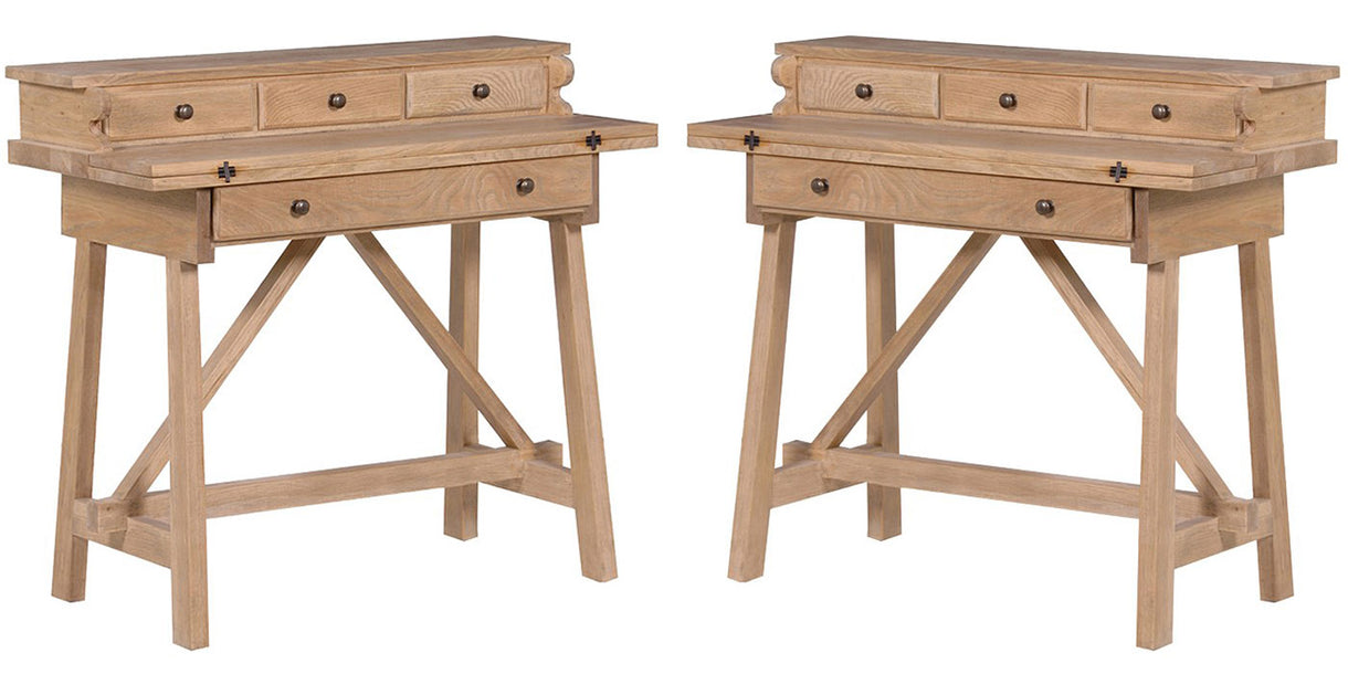 Alton Weathered Oak Foldaway Desks