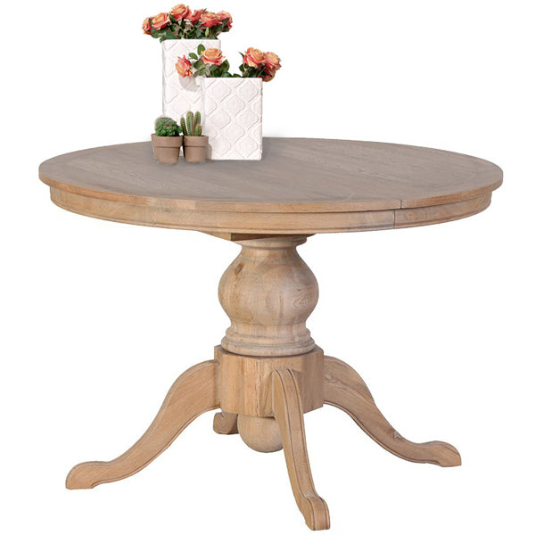 Alton Weathered Oak Round Extending Dining Table