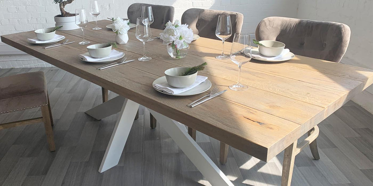 Top of Amalfi Oak Dining Table