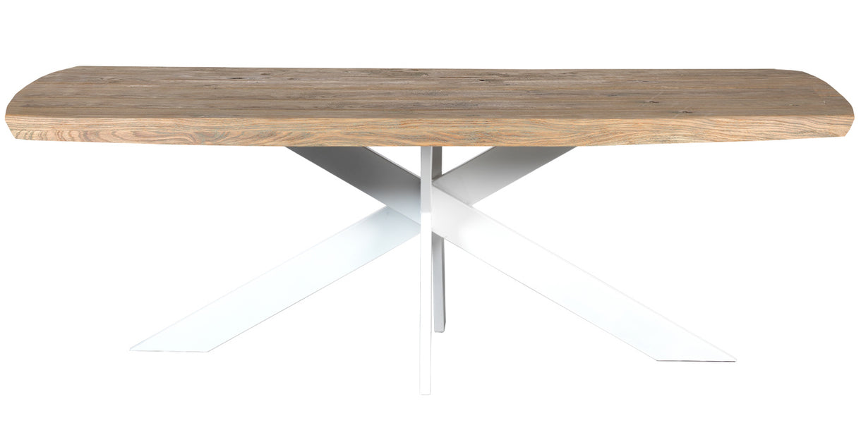 Amalfi Oval White Spider Leg Oak Dining Table