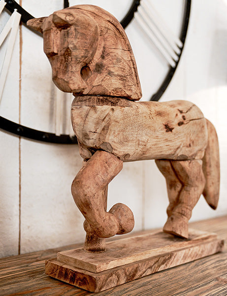 Andrew Wooden Horse Decoration