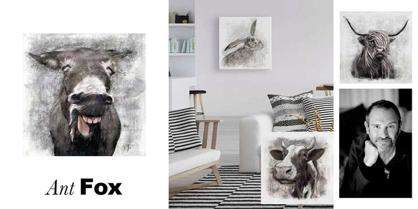 Ant Fox Wall Canvas