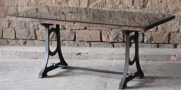 Ashburnham Industrial Reclaimed Wood Dining Table
