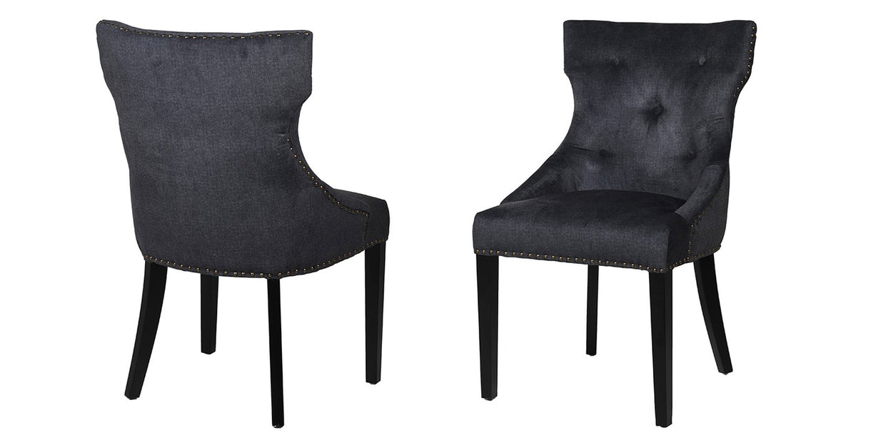 Aston Black Upholstered Dining Chairs