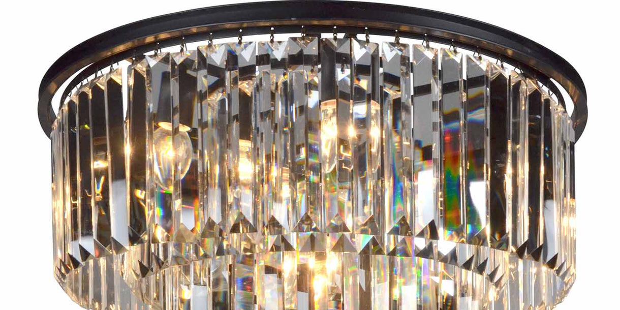 Close up of Aubrey Large Pendant Light with Glass