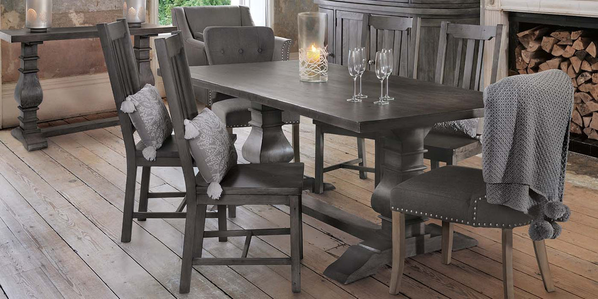 Dakota Reclaimed Wood Dining Chairs in Dining Room