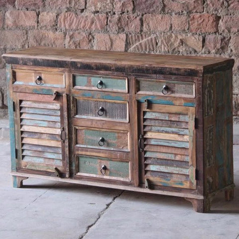 Mary Rose 6 Drawer Reclaimed Boat Wood Sideboard
