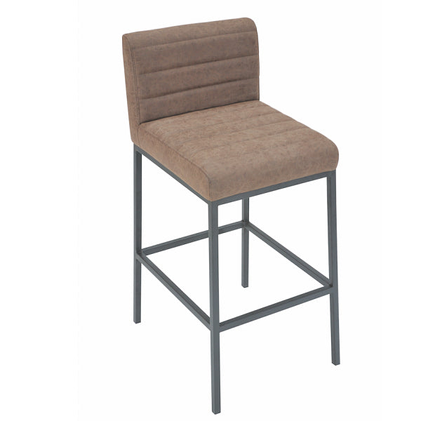 Lansdowne Faux Leather Industrial Bar Stool