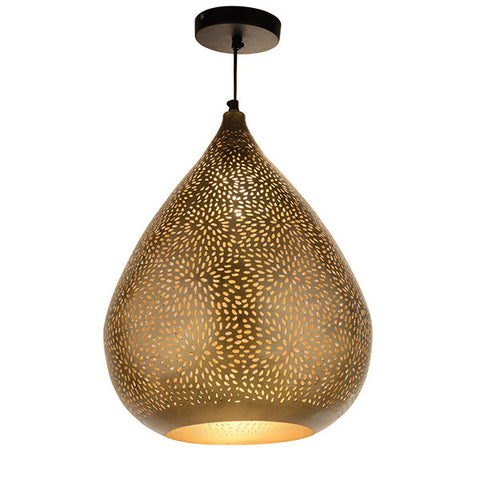 Gold Teardrop Babloo Pendant Light for living room