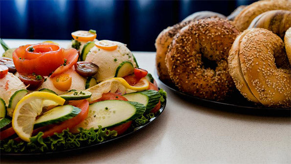 Bagels on Table