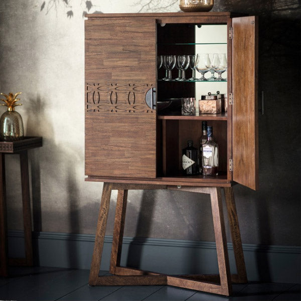 Bahamas Wooden Drinks Display Cabinet