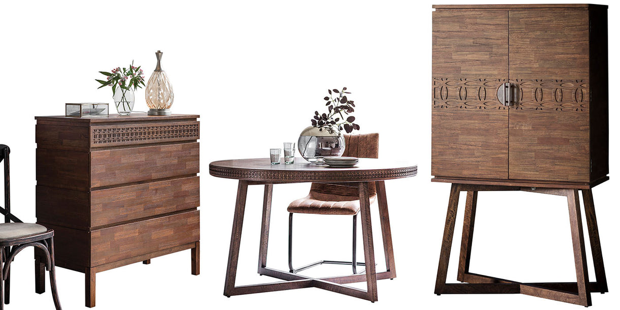Bahamas Wooden Drinks Cabinet and Dining Table