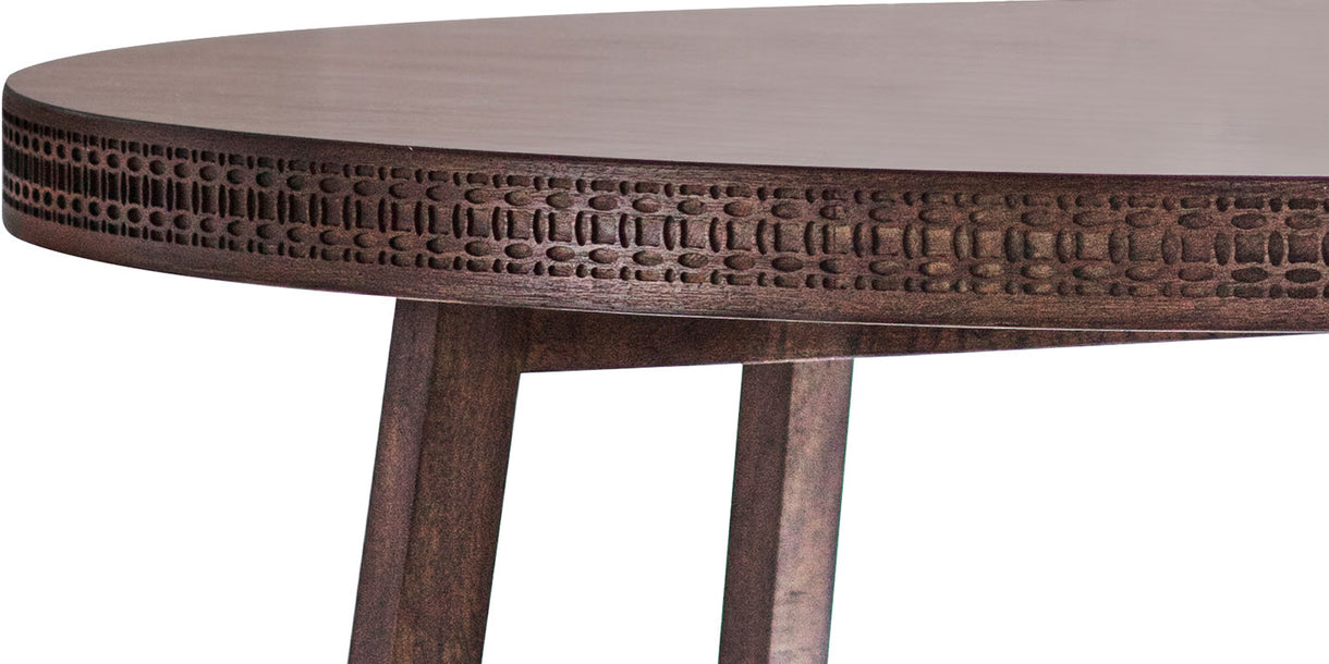 Bahamas Round Wooden Dining Table Close up