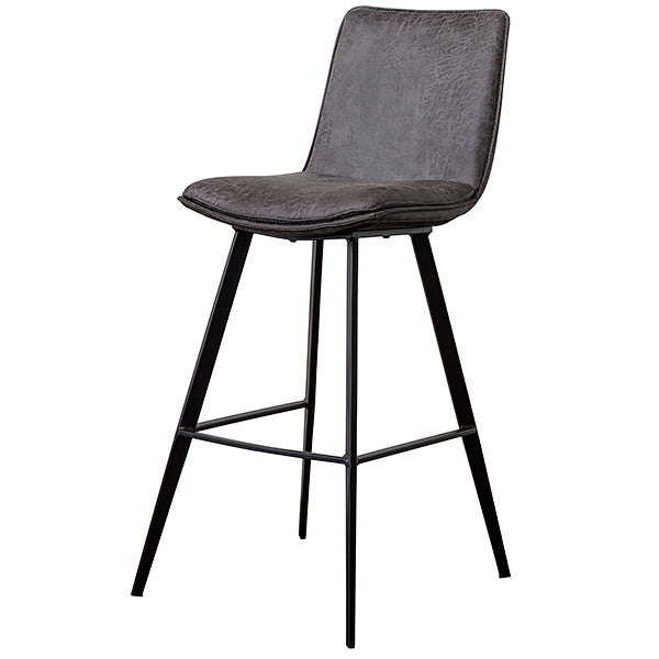 Bancroft faux leather bar stool