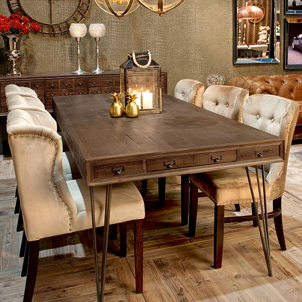 Barclay Reclaimed Wood Dining Table in Dining Room