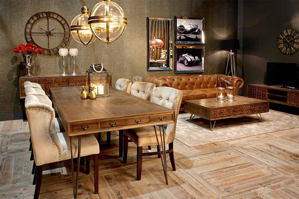Barclay Reclaimed Wood Dining Table and Coffee Table