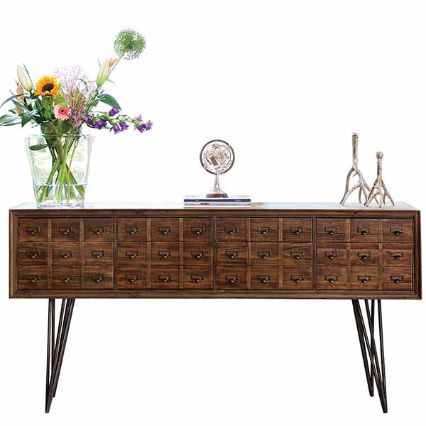 Reclaimed Wood Sideboard with Hairpin Legs