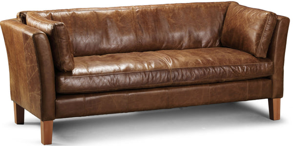 Barkby Brown Leather Armchair Sofa