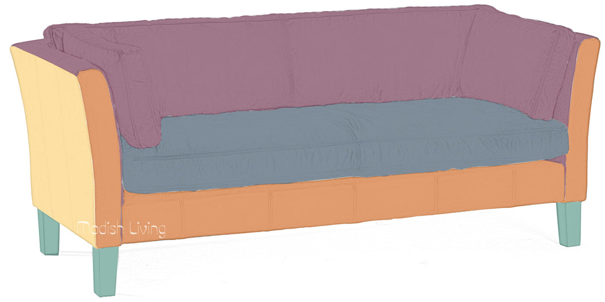 Barkby Leather Sofa Bespoke Options colours