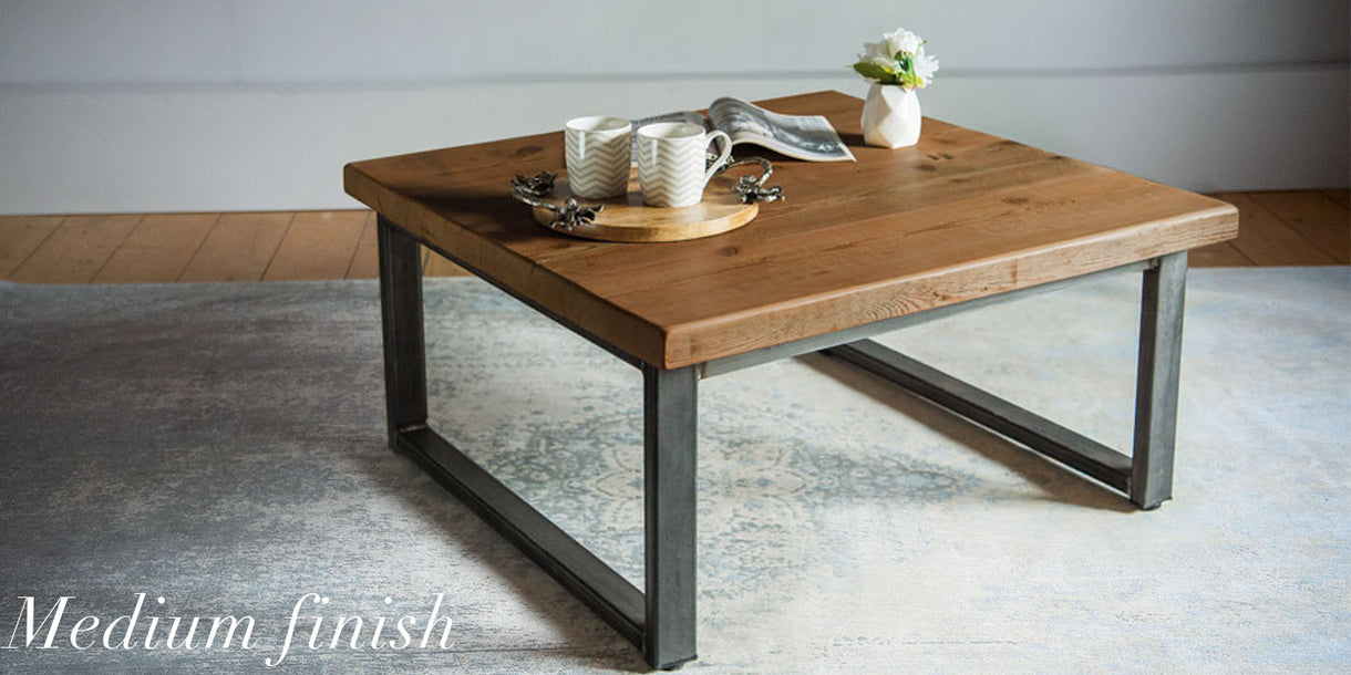 Beam Industrial Reclaimed Wood Coffee Table Medium