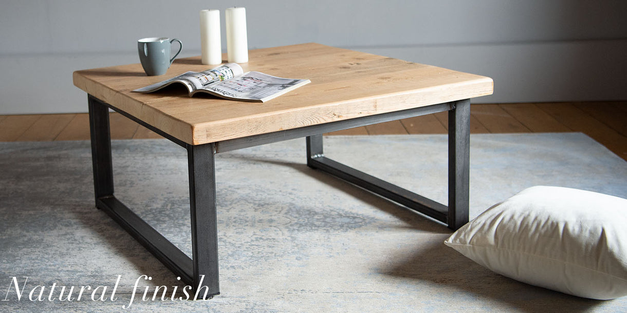 Beam Industrial Reclaimed Wood Coffee Table Natural