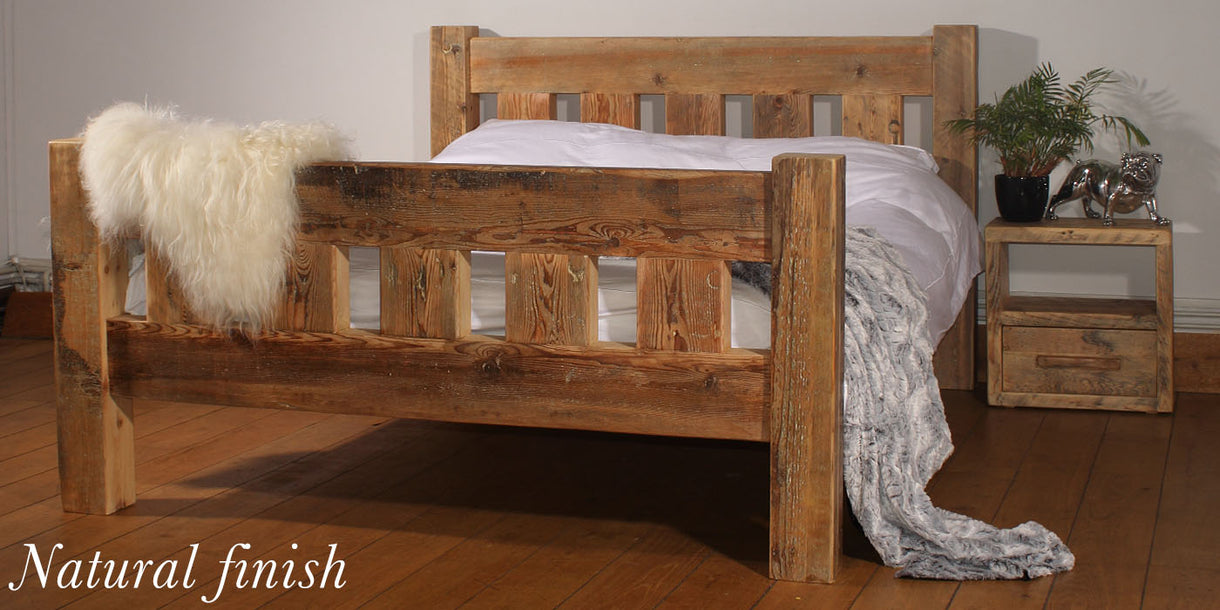 Beam Surrey Reclaimed Wood Bed Natural