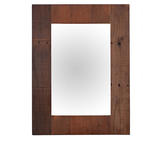 Standford Reclaimed Wood Wall Mirror for Hallway