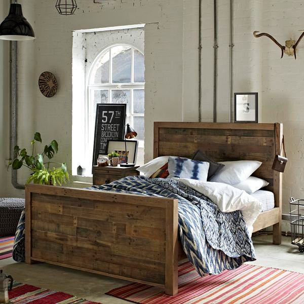 Standford Reclaimed Wood Bed