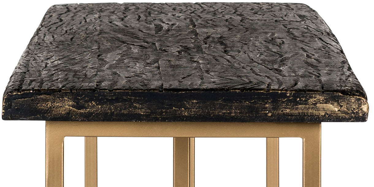 Belfort Industrial Console Table Top Close up