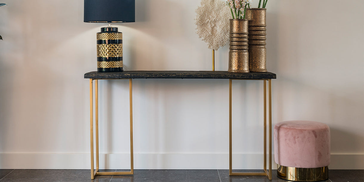 Belfort Industrial Console Table in Room